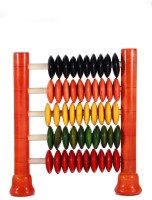 Adaa Channapatna Counting Frame - Abacus Up To 50 (Multicolor)