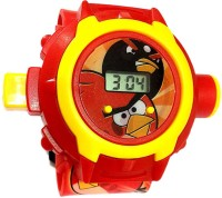 New Pinch Angry Bird Projector Kids Watch (Multicolor)