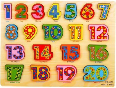 Priya Exports Learning & Educational Toys Priya Exports Large Colored Numbers Wooden Puzzle