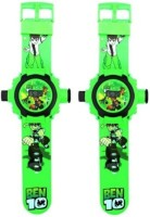 Turban Toys Combo Of Projector Digital Ben10 Watch For Kids (Green)