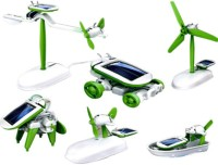 Noorstore 6 In 1 Solar Educational Kit - Boat Fan Car Robot Toy (Multicolor)