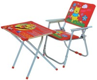 Fantasy India Foldable Study Table And Chair Set (Multicolor)