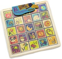 B. Toys Magnetic Alphabetic Puzzle Plank (Multicolor)