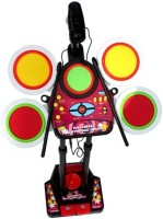 Buddy Fun Electronic Junior Jazz Drum Beat Set With Mp3 Plug-In + Microphone + Adjustable Heights (Multicolor)