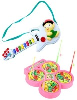 New Pinch Combo Of Fish Catching Game With Mini Musical Guitar (Multicolor)