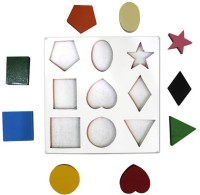 Global Toys & Games Wooden Color & Shape, Round, Square,Heart (Multicolor)