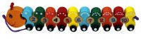HMS Wooden Number Puzzle Caterpillar Shape (Multicolor)