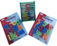 Meeras Combination Of Magnetic Numbers And Alphabets And Counting Frame (Set Of 3) (Multicolor)