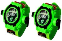 AQUARAS COMBO BEN10 24 IMAGE PROJECTOR WATCH (Green)