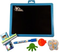 Imported Double-Sided White And Black Slate Magnetic Board (White, Black)