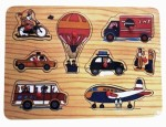 Vacfo Learning & Educational Toys Vacfo Transport Jigsaw Puzzle Wooden