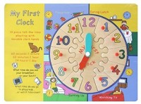 Kalaplanet Eco-Friendly Wooden 'My First Clock' (Multicolor)