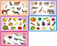 Creative's Creative's Play And Learn -Combo Of Five-Puzzles Namely- Wild Animals,Domestic Animals,Birds,Fruits And Vegetables. (Multicolor)