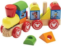 Melissa & Doug Disney Baby Mickey Mouse And Friends Wooden Stacking Train (Multicolor)