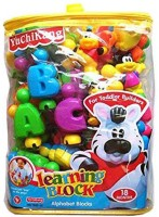 Turban Toys English Learning Blocks For Kids With Cartoon Figures (Multicolor)