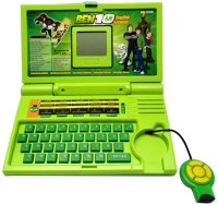 Funny Bunny Ben 10 English Learner Laptop Gift Forr Kids (Green)