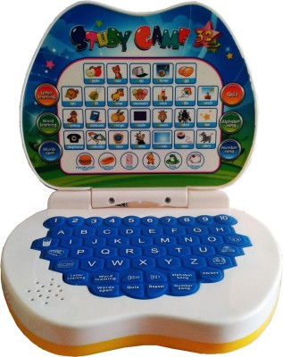 STERLING Cute Apple Shaped Mini Laptop Study Paradise Game For Kids (Multicolor)