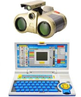 New Pinch Kids English Learner Computer Toy With Binocular Toy (Multicolor)