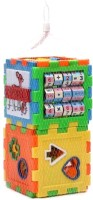 Turban Toys Play And Learn All In One Cubes Game (Multicolor)