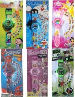Users Kids_DEL To DSS 6 Character Combi With 24 Images Projector Function (Green, Blue, Pink, Multicolor)