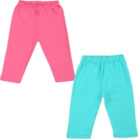 Color Fly Baby Girl's Pink, Green Leggings Pack Of 2