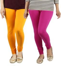 Radha's Women's Orange, Pink Leggings