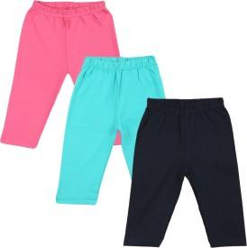 Color Fly Baby Girl's Pink, Dark Blue, Green Leggings