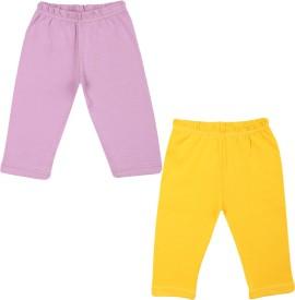 Color Fly Baby Girl's Purple, Yellow Leggings