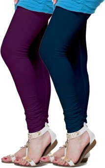 FRONEX INDIA Women's Purple, Dark Blue Leggings Pack Of 2