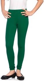 Red Ring Girl's Green Leggings