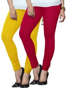 Lux Lyra Women's Dark Blue, Pink Leggings Pack Of 2