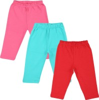 Color Fly Baby Girl's Pink, Red, Green Leggings (Pack Of 3)