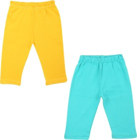 Color Fly Baby Girl's Green, Yellow Leggings Pack Of 2
