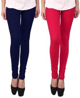 Escocer Women's Blue, Pink Leggings Pack Of 2