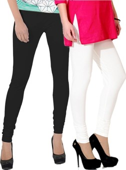 Ngt Women's Black, White Leggings Pack Of 2