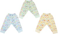 Cucumber Baby Girl's Yellow, Blue, Green Leggings (Pack Of 3)