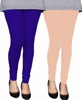 PAMO Women's Blue, Gold Leggings Pack Of 2
