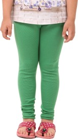Vostro Moda Girl's Green Leggings