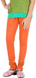 WellFitLook Girl's Orange Leggings