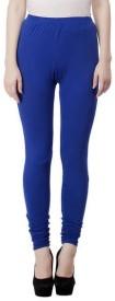 Shining Girl Women's Blue Leggings