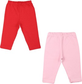Color Fly Baby Girl's Pink, Red Leggings
