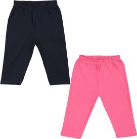 Color Fly Baby Girl's Pink, Dark Blue Leggings