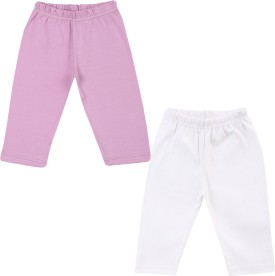 Color Fly Baby Girl's Purple, White Leggings Pack Of 2