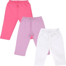 Color Fly Baby Girl's Pink, Purple, Green Leggings Pack Of 3