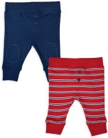 Mothercare Baby Girl's Blue, Red Leggings (Pack Of 2)