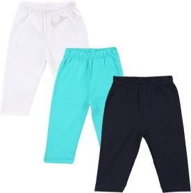Color Fly Baby Girl's Dark Blue, Green, White Leggings Pack Of 3