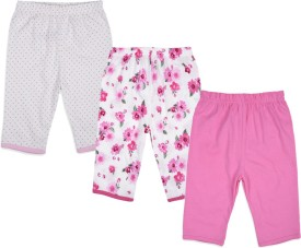 Mothercare Baby Girl's White, Pink Leggings Pack Of 3
