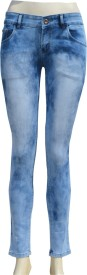pink zone slim Fit Women's Blue Jeans