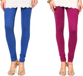 Sukuma Women's Blue, Pink Leggings Pack Of 2