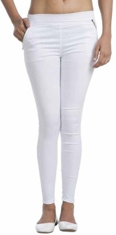 Fashion Guru Trading Co. Women's White Jeggings